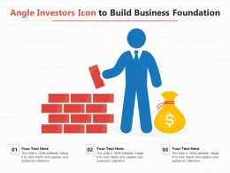 Angle Investors Icon To Build Business Foundation