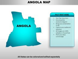 Angola Country Powerpoint Maps