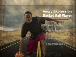 Angry Expression Basket Ball Player