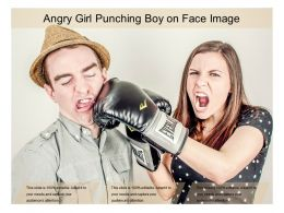 Angry Girl Punching Boy On Face Image