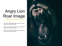 Angry Lion Roar Image