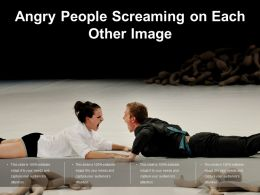 Angry People Screaming On Each Other Image