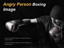 Angry Person Boxing Image