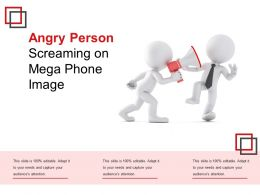Angry Person Screaming On Mega Phone Image