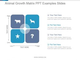 Animal Growth Matrix Ppt Examples Slides