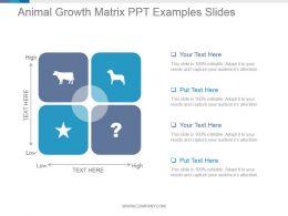 Animal Growth Matrix Ppt Examples Slides