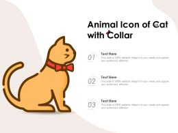 Animal Icon Of Cat With Collar