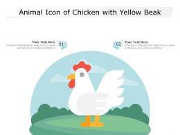 Animal Icon Of Chicken With Yellow Beak