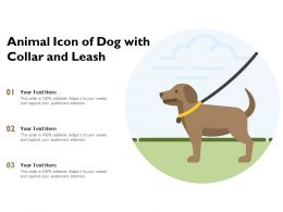 Animal Icon Of Dog With Collar And Leash