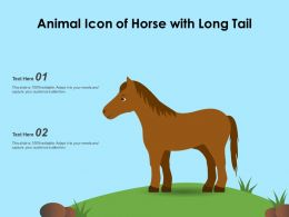 Animal Icon Of Horse With Long Tail
