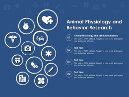 Animal Physiology And Behavior Research Ppt Powerpoint Presentation Infographics Vector