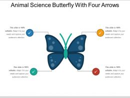 Animal Science Butterfly With Four Arrows