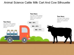 Animal Science Cattle Milk Cart And Cow Silhouette