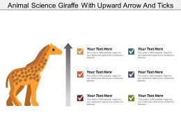 Animal Science Giraffe With Upward Arrow And Ticks