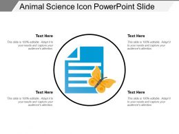 Animal Science Icon Powerpoint Slide