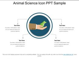 Animal Science Icon Ppt Sample