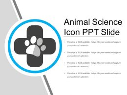 Animal Science Icon Ppt Slide