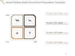Animal Welfare Matrix Powerpoint Presentation Templates