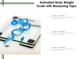 Animated Body Weight Scale With Measuring Tape