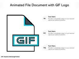 Animated File Document With Gif Logo