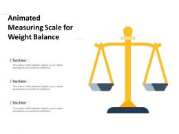 Animated Measuring Scale For Weight Balance