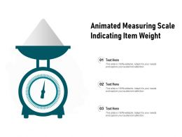 Animated Measuring Scale Indicating Item Weight