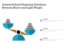 Animated Scale Depicting Imbalance Between Heavy And Light Weight