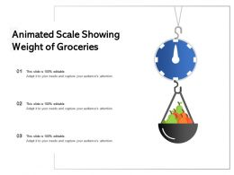 Animated Scale Showing Weight Of Groceries