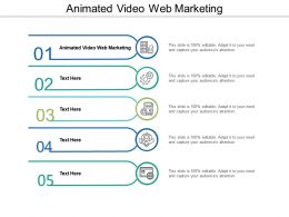 Animated Video Web Marketing Ppt Powerpoint Presentation Ideas Graphics Tutorials Cpb