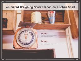 Animated Weighing Scale Placed On Kitchen Shelf