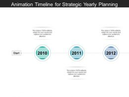 Animation Timeline For Strategic Yearly Planning