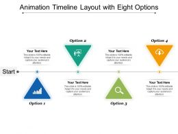 Animation Timeline Layout With Eight Options