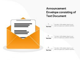 Announcement Envelope Consisting Of Text Document