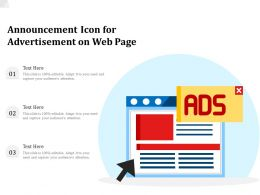 Announcement Icon For Advertisement On Web Page
