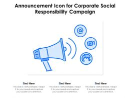 Announcement Icon For Corporate Social Responsibility Campaign