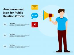 Announcement Icon For Public Relation Officer