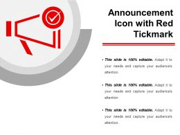 Announcement Icon With Red Tickmark