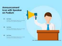 Announcement Icon With Speaker On Podium
