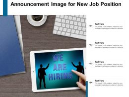 Announcement Image For New Job Position