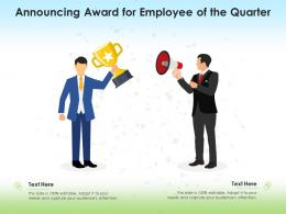 Announcing Award For Employee Of The Quarter Infographic Template
