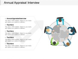Annual Appraisal Interview Ppt Powerpoint Presentation Professional Images Cpb