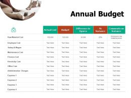 Annual Budget Finance Cost Ppt Powerpoint Presentation Summary Topics