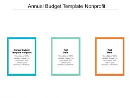 Annual Budget Template Nonprofit Ppt Powerpoint Presentation Gallery Graphic Images Cpb