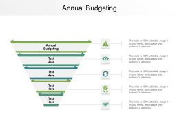 Annual Budgeting Ppt Powerpoint Presentation Portfolio Objects Cpb