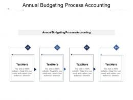 Annual Budgeting Process Accounting Ppt Powerpoint Presentation Pictures Smartart Cpb
