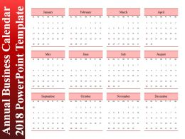 Annual Business Calendar 2018 Powerpoint Template