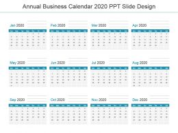 Annual Business Calendar 2020 Ppt Slide Design