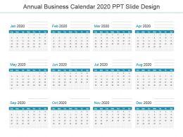 Annual Business Calendar 2020 Ppt Slide Design