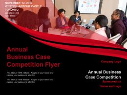 Annual Business Case Competition Flyer