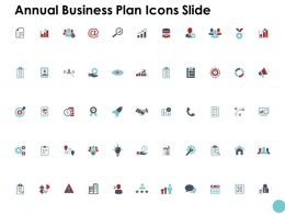 Annual Business Plan Icons Slide Technology K80 Ppt Powerpoint Presentation Ideas